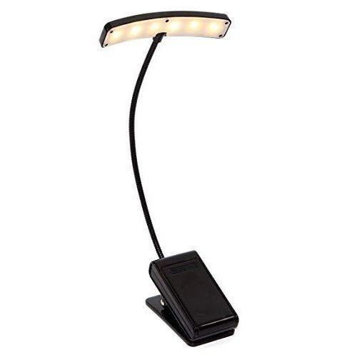 Alneo Light SHINY Touch Switch Clip-Lampe Notenpultleuchte mit 6 LEDs (Shiny Black)
