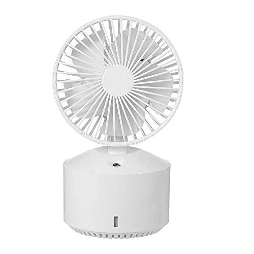 MUMUMI Mini Fan, Puede Agregar Ventilador de Aerosol de Ventilador Recargable de Agua con,Blanco,350Ml
