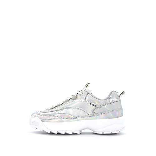 Guess Donna Sneakers Kaysie Effetto Laminato Argento MOD. FL5KAY LEL12 39