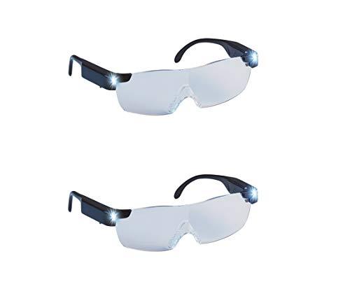 Mediashop Zoom Magix LED Doppelpack   integriertes LED-Licht und 160% Vergrößerung   Polycarbonat-Linsen   langlebiger Rahmen - Kratzfeste Gläser - sicher und bequem   Unisex- Design  Das Original a