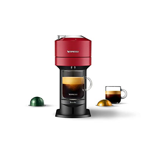 Nespresso Vertuo Next Coffee and Espresso Machine NEW by Breville, Cherry, Compact, Single Serve, One Touch to Brew, Coffee Maker and Espresso Machine