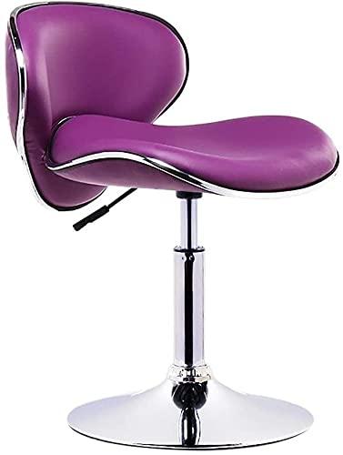 YANYUBINdengzi Taburetes de bar para silla de bar, para mostrador, caja registradora, taburete de bar de moda, silla de bar, silla de bar, taburete giratorio (color: morado, tamaño: 38 – 53 cm)