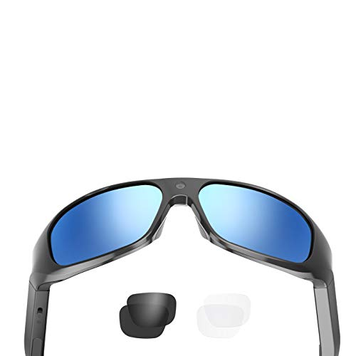 OhO sunshine 4K Ultra HD Water Resistance Video Sunglasses, Sports Action Camera with Built-in 128GB Memory and Polarized UV400 Protection Safety Lenses,Unisex Sport Design