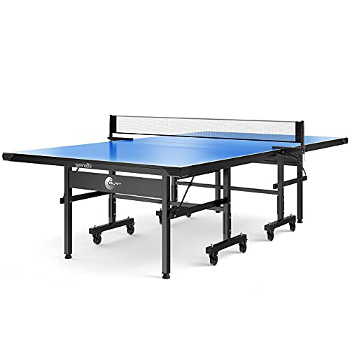 Durable Indoor Table Tennis Table - Easy Assembly Foldable Professional Ping Pong...