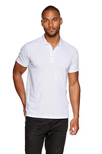 Jeff Green Herren Atmungsaktives Funktions Poloshirt Eclipse, Größe - Herren:L, Farbe:White
