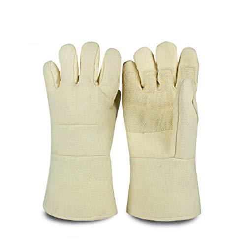 TYXHZL lederen lasconstructie handschoenen, hittebestendige steekvastheid/perfecte blokkering hitte en beschermen de handen tegen schade