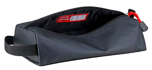Rough Enough Large Black Pencil Case for Kids Boys Adults Small Tool Bag Pouch with Zipper