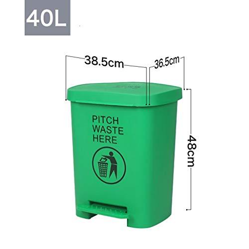 LXFYMX LXF Außenabfallbehälter Recyclingbehälter für Treteimer im Außenbereich 15L / 40L Schwarze Mülltonne (Color : Green, Size : 40L)