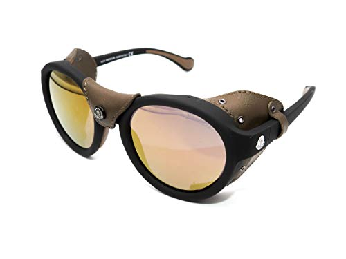 Moncler Sonnenbrille ML 0046 02L Matt Black/Roviex Mirror