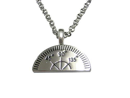 Kiola Designs Scientific Engineering Protractor Pendant Necklace
