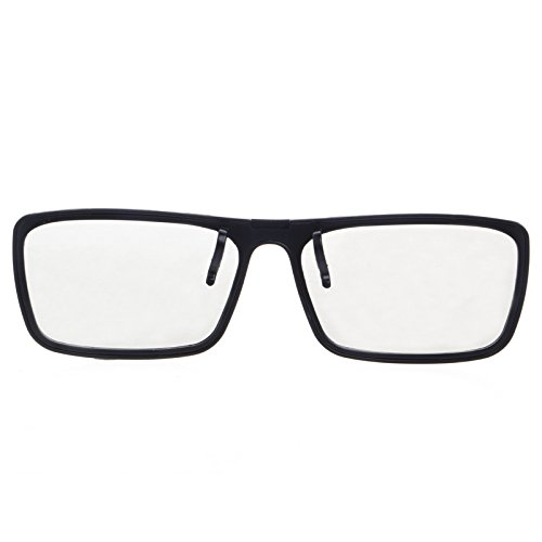Fivekim Clip-on- Gafas circulares pasivas, polarizadas 3D para TV real 3D Cinema 0.22 mm cuadrado Vibración Clip Gafas 3D