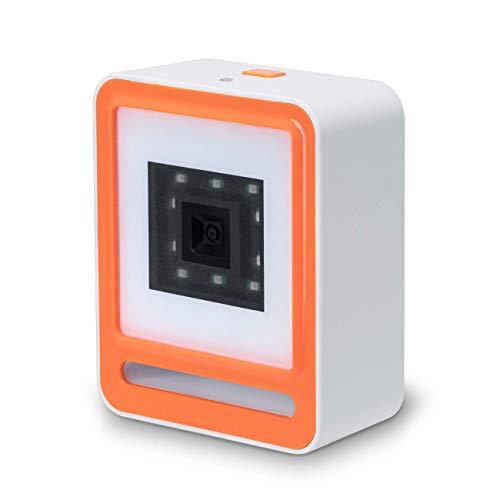 Tera 1D 2D QR Barocde Scanner, Desktop Barcodes Reader Automatic Hands-Free Wired for Market Retail Store Warehouse (Orange) 3d barcode scanner