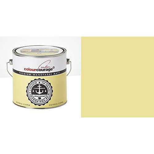 2,5 Liter Colourcourage Premium Wandfarbe Osteria Ciona Gelb | L719778602 | geruchslos | tropf- und spritzgehemmt