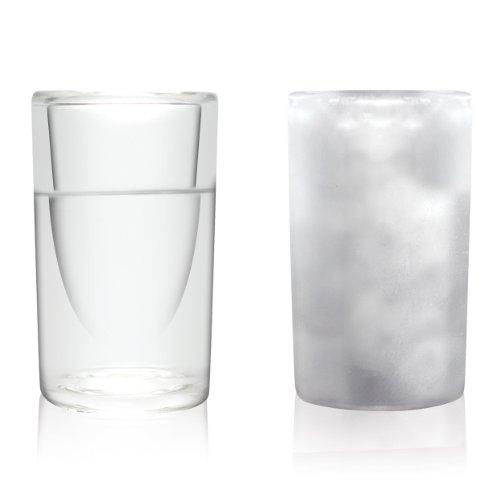 Amsterdam Bicchierino in Vetro, a Doppio Rivestimento, 45ml, Set da 4, FSHT01044