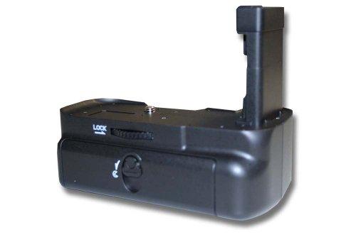 vhbw impugnatura battery grip compatibile con Nikon D5100, D5200, D5300 fotocamera reflex incl. ghiera di selezione