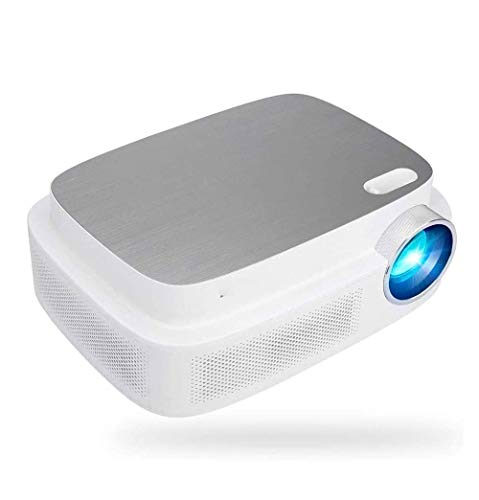 SMSOM Mini Proyector, Smartphone Portable Video Projector 1080P admitido 30,000 Horas LCD Lámpara Life Proyector HD
