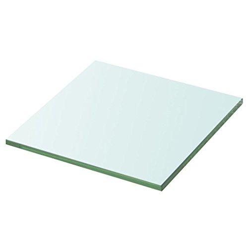 Nishore Ersatzteile Regalboden Glasboden Einlegeboden aus Glas Max. Tragfähigkeit 15 kg 30 x 30 cm (L x B) Glas-Stärke 8 mm