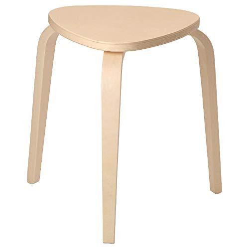 Ikea KYRRE-FROSTA Stapelhocker Holz-Hocker aus massivem Birkensperrholz-Sitzdurchmesser 35 cm-Sitzhöhe 45 cm-bis 100kg, Brown, 45 x 46 x 46 cm