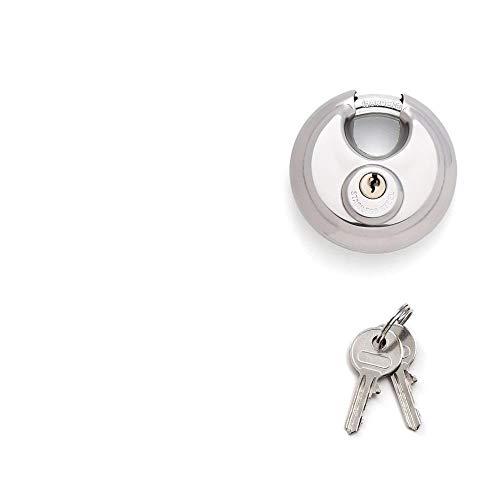 Slot 1Set 70Mm Disc hangslot sluiting sluiting roestvrij staal zwaar 2 sleutels waterdicht roestvrij kettingslot fiets anti-diefstal slot