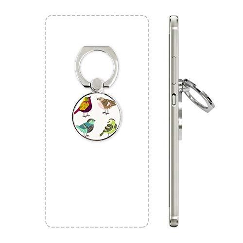 DIYthinker Illustratie Mooie Vogels Kleur Patroon Mobiele Telefoon Ring Stand Houder Beugel Universele Smartphones Ondersteuning Gift