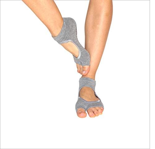 Lifelym Medias antideslizantes para mujer | LM0000LG | Gris | Yoga Socks Toeless Mujer | Sin dedos | Ideal para Yoga | Pilates | Barras | Talla única (gris)