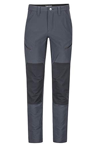 Marmot Herren Trekkinghose Softshell Funktionshose, Wasserabweisend Highland Pant, Black, 36, 42290
