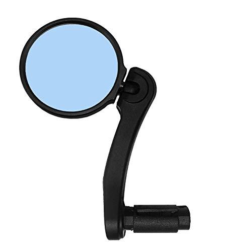 Hafny Bar End Bike Mirror, HD Blast-Resistance Bicycle Mirror, Safe Adjustable Rearview Mirror, Cycle Mirror, E-bike Mirror, HF-M952B-FR04 (Anti-glare Blue Glass Lens (68mm))