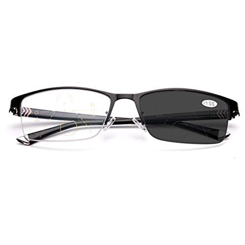 SYTH Unisex-Lesebrille,photochrome Lesebrillen,Fern- und Nahbereich mit doppeltem Verwendungszweck, intelligente Zoombrille mit Mehrfachfokus, einschließlich Sonnenleser