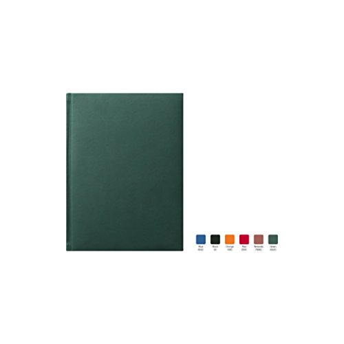 SYMPHONY Ruled, Padded Executive Hardcover Notebook Journal with Premium Paper, 256 Lined Pages, With Book Mark Ribbons, Lined Pages, Green Cover, Size 5.75' x 8.25'