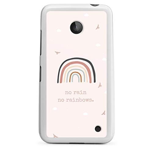 DeinDesign Silikon Hülle kompatibel mit Nokia Lumia 630 Hülle weiß Handyhülle Regenbogen Sprüche Statement