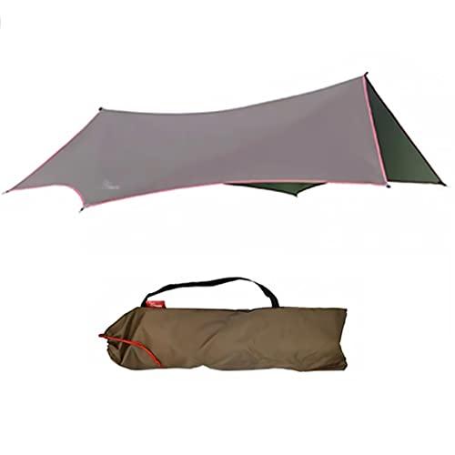 XYF Verdeck-Sonnenschutz Tragbar, Campingplane Wasserdicht, Ultralight Sun Shelter Outdoor Tarp Zelt, Hex-Sonnenschirm Geeignet Für 4-6 Personen (Color : A, Size :...