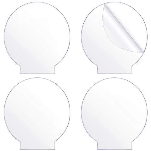Outus 4 Piezas Paneles Redondos de Hoja de Acrílico Transparente Tablero Acrílico de Plástico Grueso (4 mm) Acrílico Fundido para Base de Luz LED, Letrero, Proyectos de Exhibición DIY, Artesanía