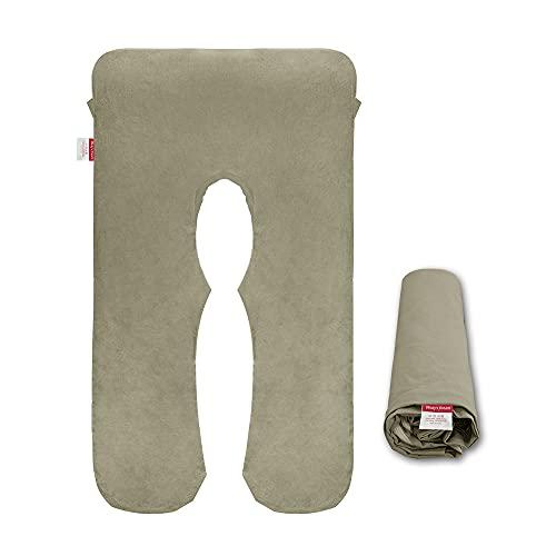 Wndy's Dream Funda de almohada para embarazo, en forma de U, funda de almohada para maternidad, tejido elástico y transpirable