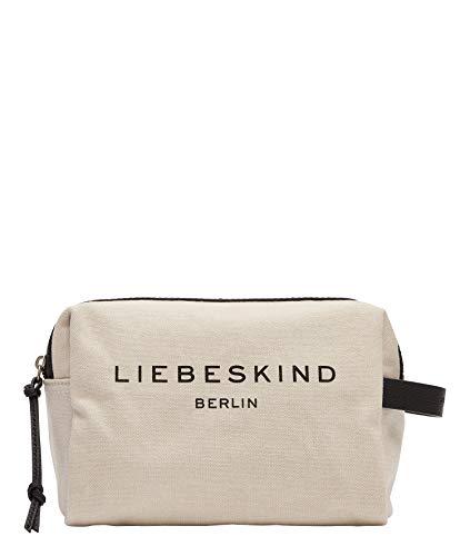 Liebeskind Berlin Gray Cosmetic Pouch, pale moon , Medium (HxBxT 18.0 cm x 24.0 cm x 11.0cm)