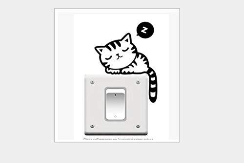 Pegatinas De Pared Etiqueta engomada del interruptor de impresión extraíble personalidad moda creativa etiqueta de la pared sala de estar sofá Fondo pared CM