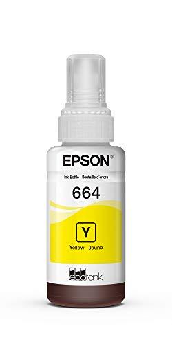 Epson 664 T664420-S ET-2500 ET-2550 ET-3600 ET-4500 ET-4550 ET-16500 EcoTank Replacement Ink Bottle (Yellow) in Retail Packaging