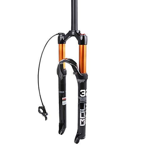 ZFF Horquilla Delantera De Bicicleta De Suspensión para 26 27,5 29 Pulgadas MTB Horquilla De Choque Viaje 100mm 1 1/8' Bloqueo Manual/Remoto (Color : RL, Size : 26)