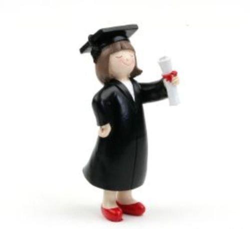 Figura Pastel graduación Chica 16,5cm