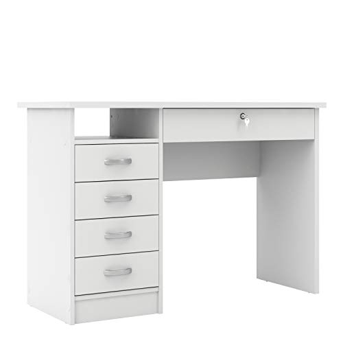 Furniture To Go Function Plus Desk 5 Drawers in White