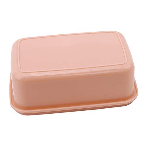 JIUZUI - Caja de almacenamiento pequeña para el almuerzo, portátil, con cierre hermético, color rosa, 14,5 x 9,7 x 5,2 cm