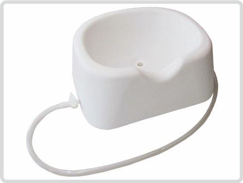 Kopfwaschwanne, Haarwaschwanne aus Kunststoff, Farbe: weiß - Haarwaschbecken Bettwaschwanne
