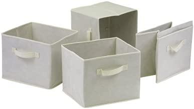 Winsome Capri Fabric Storage Baskets, Beige, Set of 4