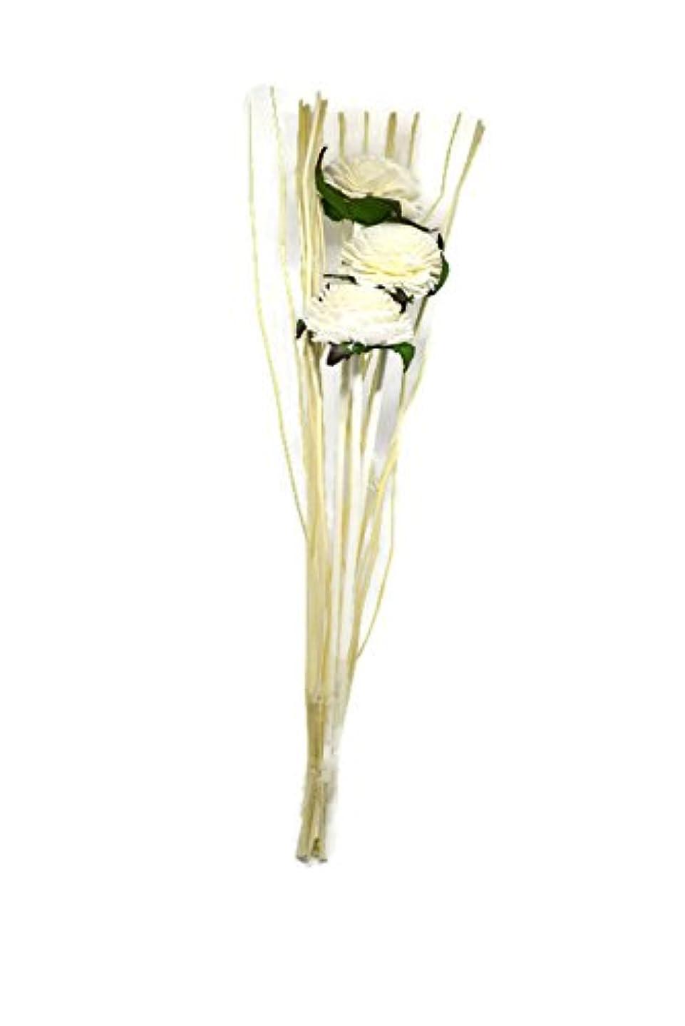 反動日付キャンセルReed Diffuser Sticks for香りとアロマオイル、フラワーRattan Sola木製ジャスミンフラワーディフューザー12インチ