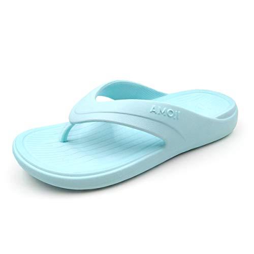 Hombre Mujer Chanclas Zapatilla de Ducha ortopédicas Punta abierta Cómodo suave Verano Playa Piscina Zapatos Soporte de arco Sandalias Sandalias Azul hielo FF162 37 EU