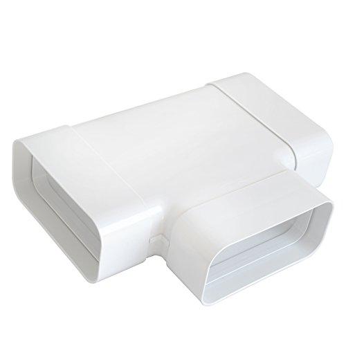 Ventilatie CRT157B T-stuk van ABS voor rechthoekige buis, 150 x 70 mm