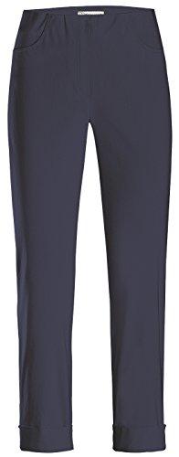 Stehmann IGOR-680, sportive Damenhose mit aufgesetzten Taschen und Aufschlag, 6/8 Länge, Größe 46, Farbe Marine