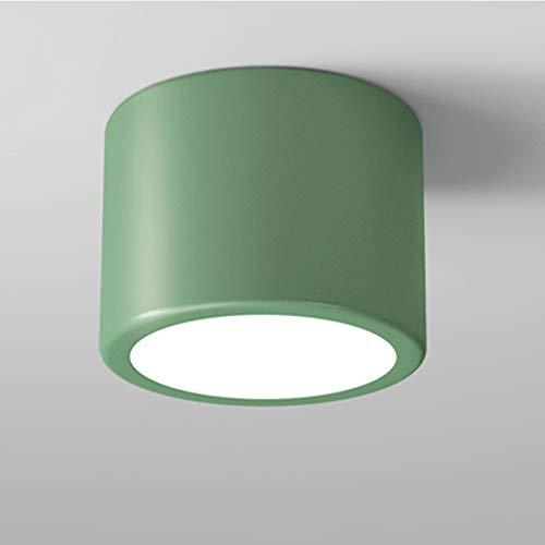 Cnlololog Downlight montado en superficie, balcón del pasillo de la sala de estar, iluminación montada oscura simple y moderna, foco LED sin bordes integrado, foco de atenuación COB Downlight comercia