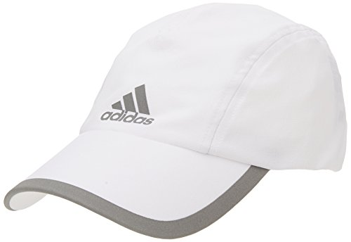 adidas R96 CL Cap Hat, White/Reflective Silver, One Size