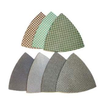 Purchase 3-inch triangle diamond polishing pads for oscillating multi tools, set of 7