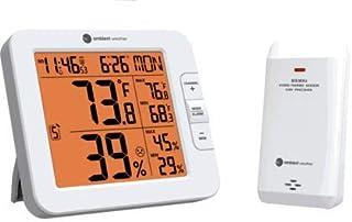 Ambient Weather WS-8482 Estación meteorológica inalámbrica de 7 canales para monitoreo remoto con temperatura y humedad in...